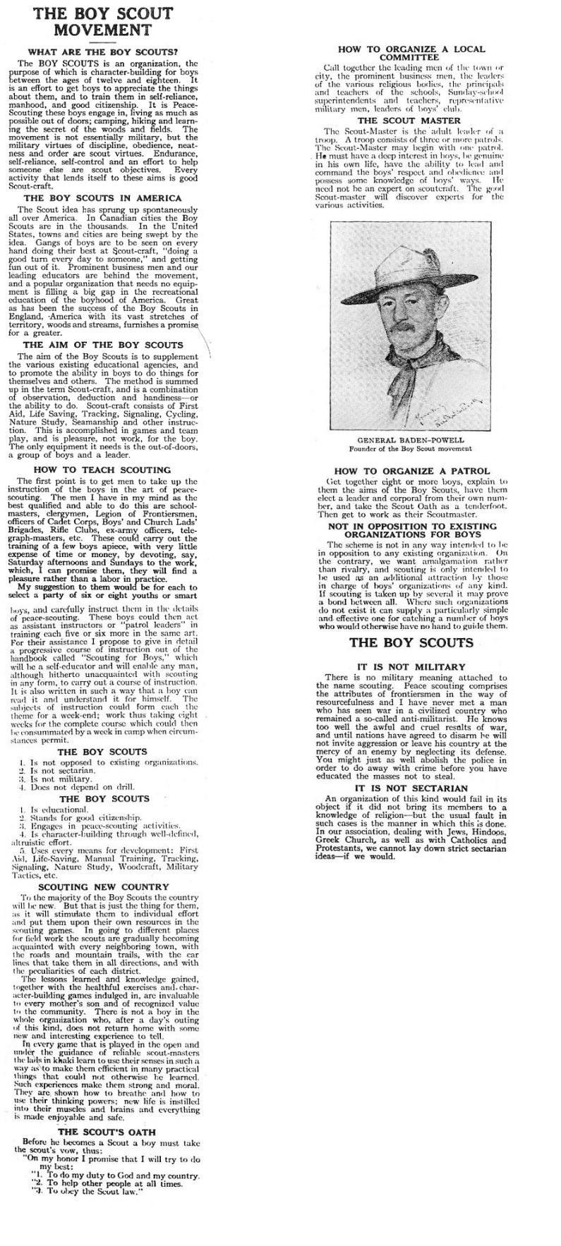 Boy Scout Movement 1911